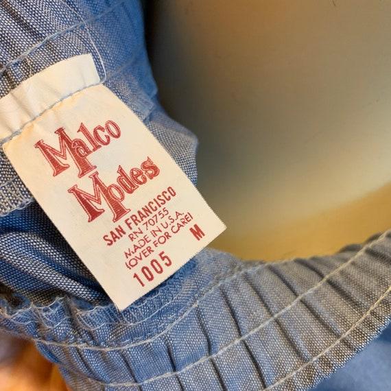 Vintage Malco Modes blue western skirt - image 2