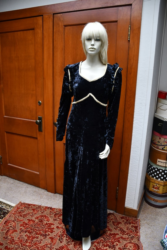Black velvet Renaissance dress
