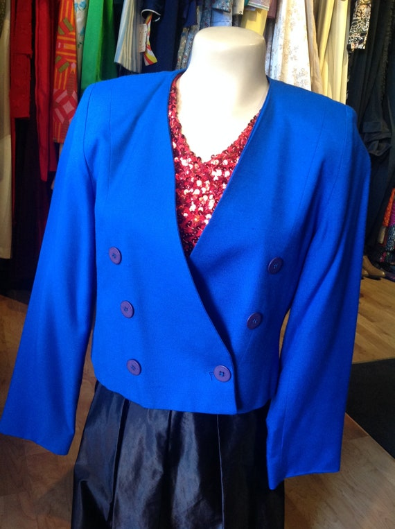 Vintage Blue Karen Ellis Blazer