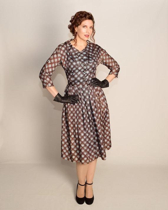 1950s Joan Dell dress