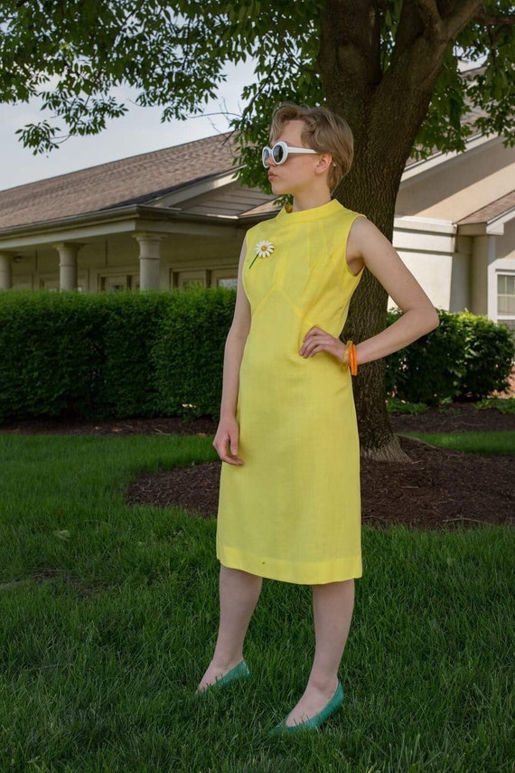 Gay Gibson yellow 1960s dress