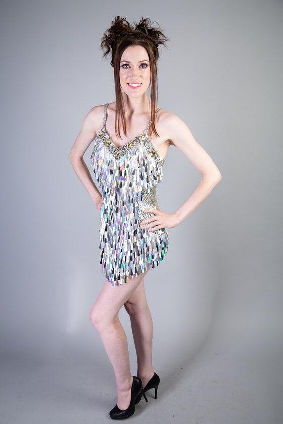 Silver Sequin Dance Costume