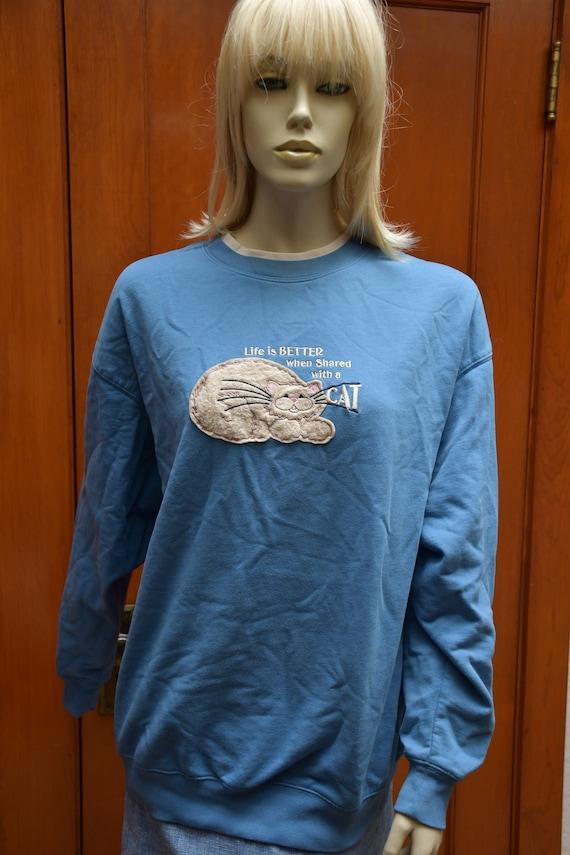 Vintage Cat Sweatshirt