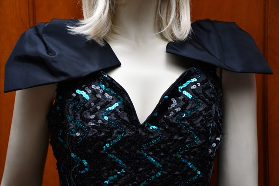 80s sequin prom dress Gunne Sax