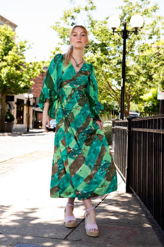 Vintage 1970s Green Dress