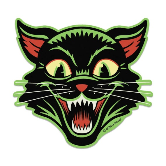 Retro-a-go-go! Frisky Kitty Vinyl Sticker