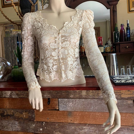 Edwardian/Victorian lace embroidered blouse