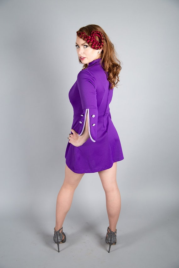 1960s purple Mod dress - image 2
