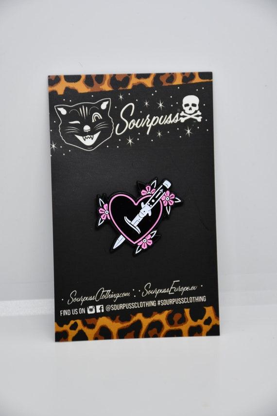 Sourpuss Sword Heart Enamel Pin