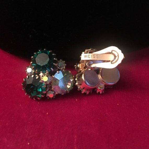 Weiss clip on earrings green