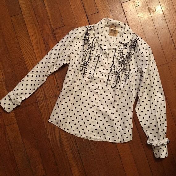 50s Miller western wear polka dot snap shirt - image 1
