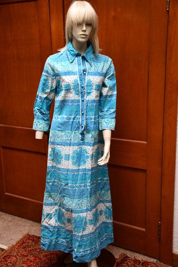 70s boho mandala dress