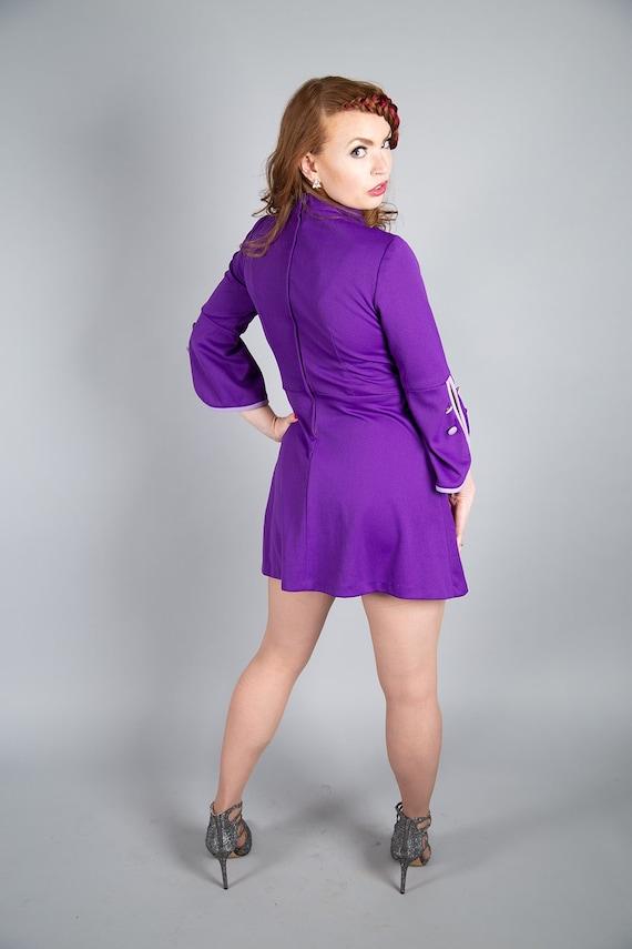 1960s purple Mod dress - image 4