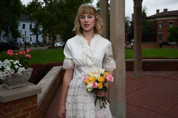 White Lace steampunk dress