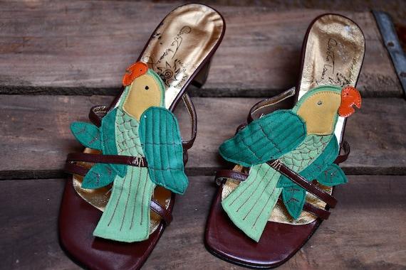 Vintage Parrot Sandals