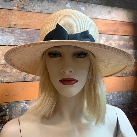 1960s Dachettes straw sun hat