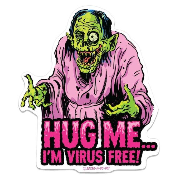 Retro-a-go-go! Zombie Hug Me Vinyl Sticker