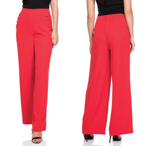 Voodoo Vixen Red Vintage Inspired Slacks