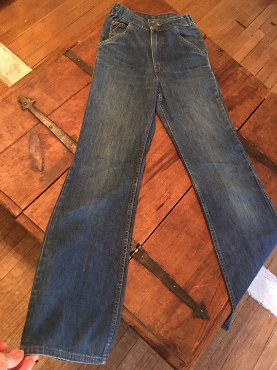 70s levi bell bottoms - image 2