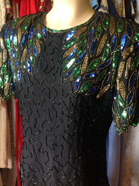 Vintage Stenary Multicolored Beaded Blouse