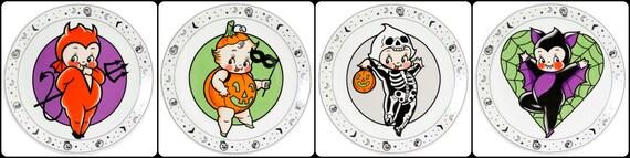 Kewpie Halloween Plates