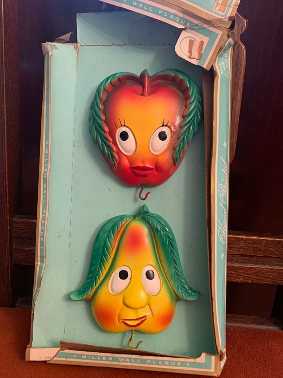 Vintage hand painted fruit kitchen decor