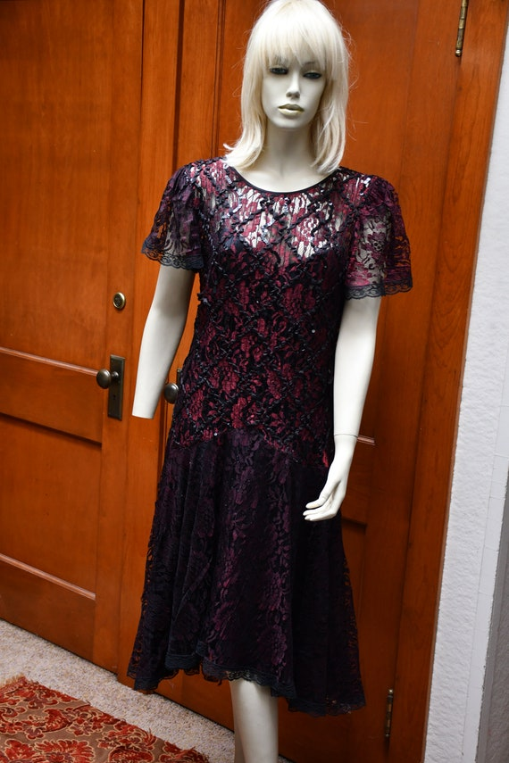 80s After Dark lace dress