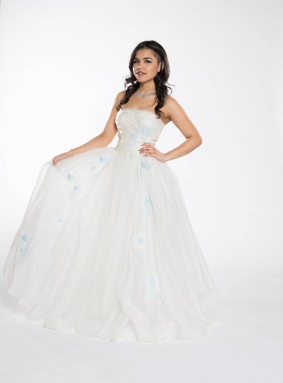 1950s vintage prom dress - image 1