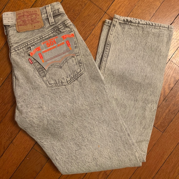 Gray wash deadstock 90s levis