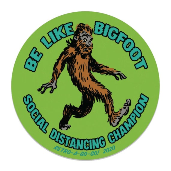 Retro-a-go-go! Bigfoot Social Distancing Champion Vinyl Sticker
