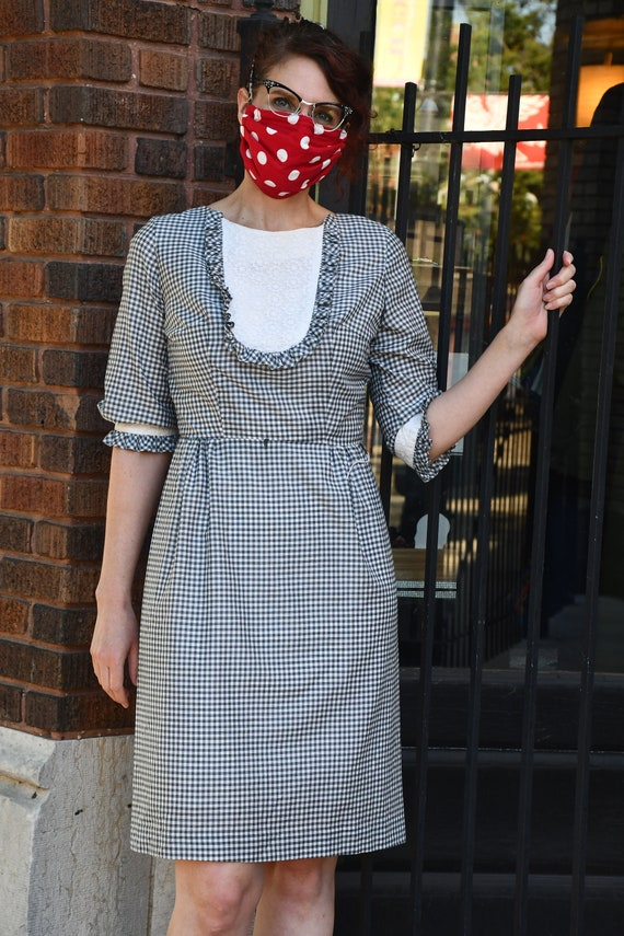 Black and White Gingham cotton dress