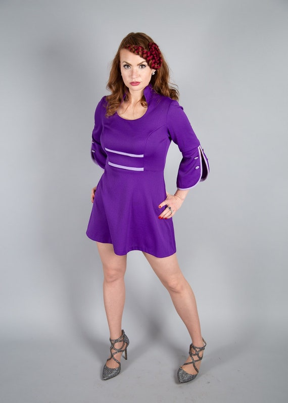 1960s purple Mod dress