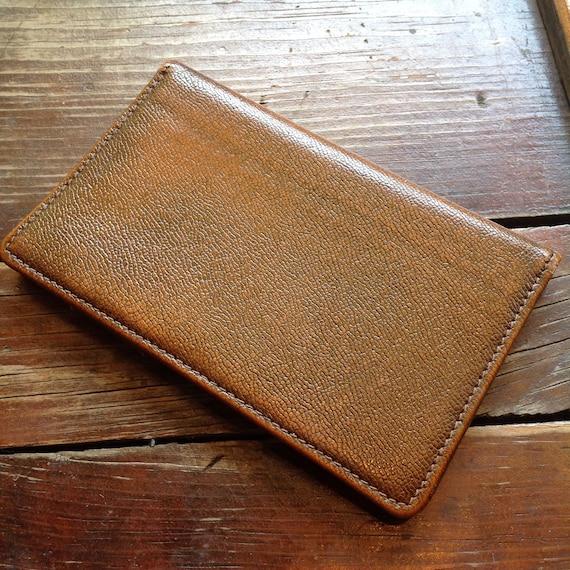Vintage Brown Pigskin Wallet
