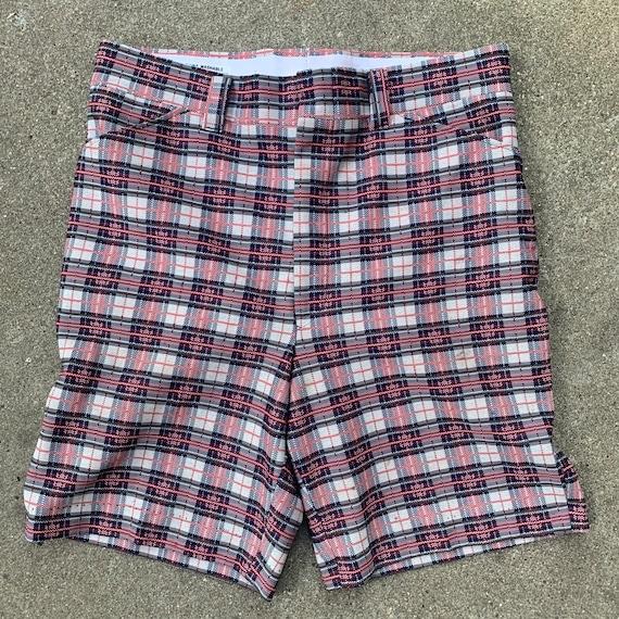 1960s vintage men's plaid shorts