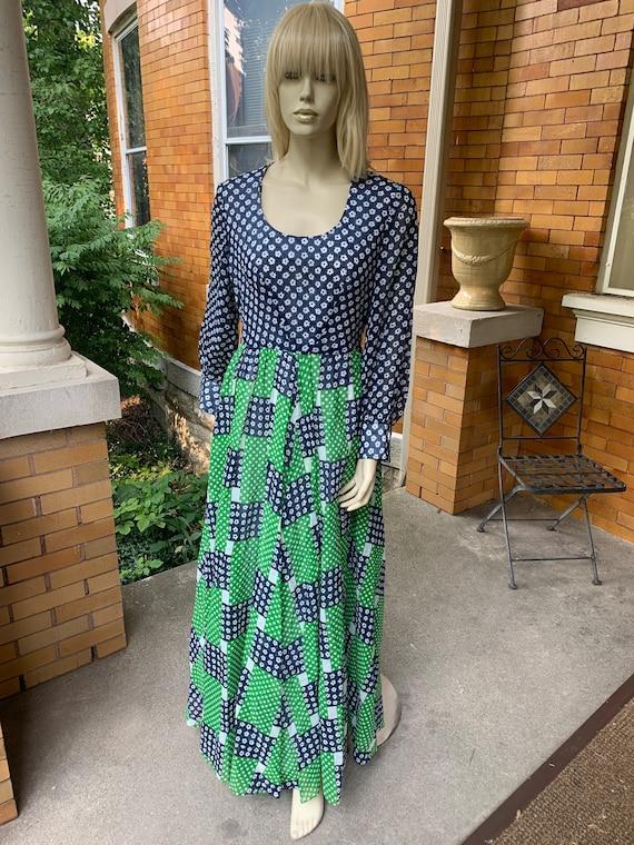 1960s floral Greg Draddy dress