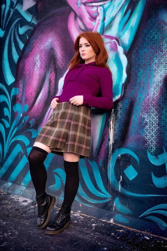 Vintage Free People Purple angora sweater size medium