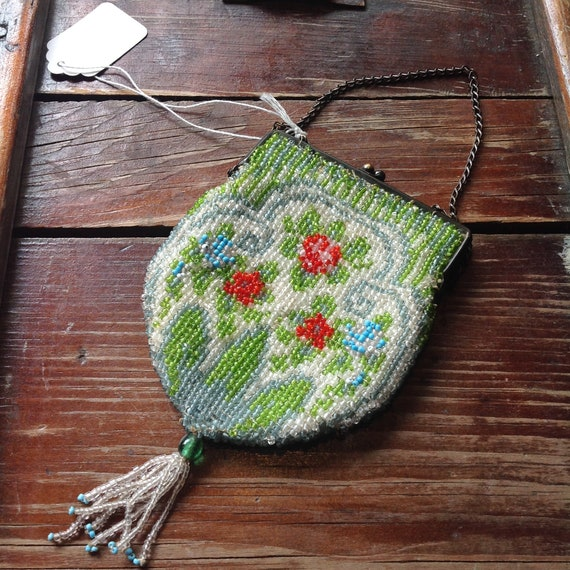 Vintage 1920-30s Beaded Coin Purse