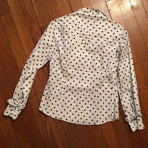 50s Miller western wear polka dot snap shirt - image 2