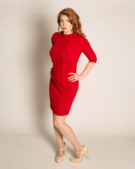 1960s alfred Werber red dress