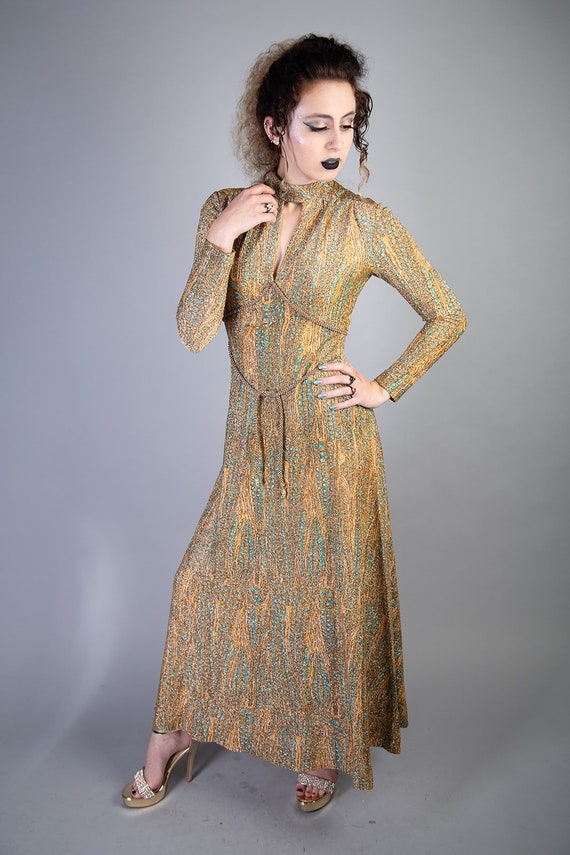 Adele Simpson 1970s Formal shimmery Gown