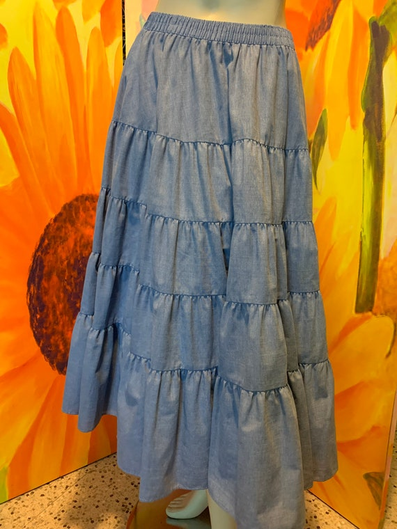 Vintage Malco Modes blue western skirt - image 1