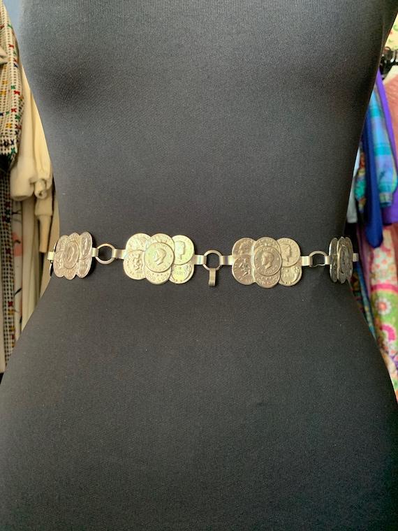 Vintage Coin Chain Belt