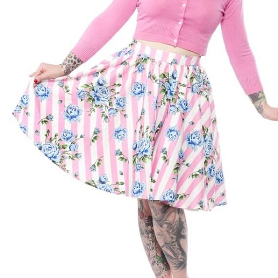 Sourpuss Roses Swing Skirt