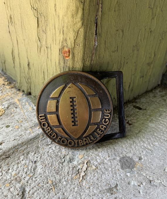 Vintage World Football League Belt Buckle