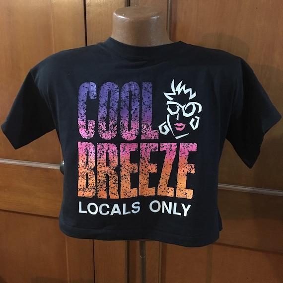80s cool breeze crop top