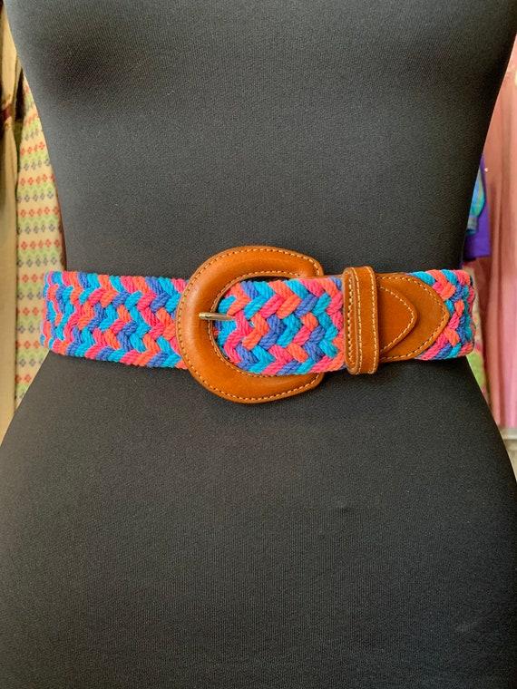 "Vintage ""Eddie Bauer"" Colorful Belt"