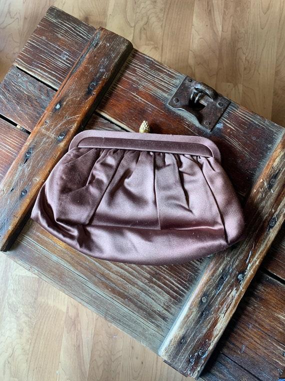 Vintage Morris Moskowitz Brown Clutch Bag