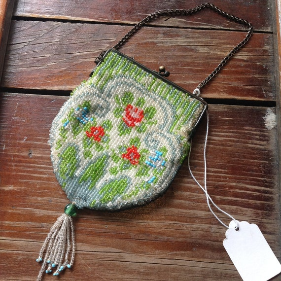 Vintage 1920-30s Beaded Coin Purse - image 2