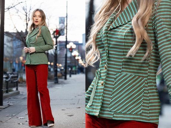 1970s green blazer