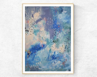 WAVES abstract painting fine art print